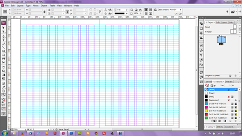 indesign how to make print double page spread